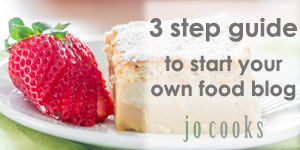 3 step guide to start your own food blog